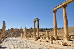 The Cardo Colonnaded Street, Jerash Royalty Free Stock Photography
