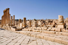 The Cardo Colonnaded Street, Jerash Royalty Free Stock Photos