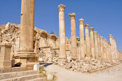 The Cardo Colonnaded Street, Jerash (Jordan) Royalty Free Stock Photography