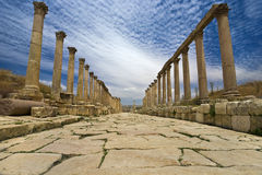 The Cardo in Jerash Stock Image