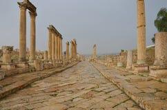 Cardo, Jerash Royalty-vrije Stock Foto