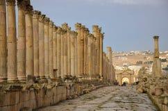 Cardo, Jerash Foto de archivo