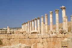 Cardo, Jerash, Jordan Royalty Free Stock Photos