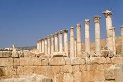 Cardo, Jerash, Jordanien lizenzfreie stockfotos