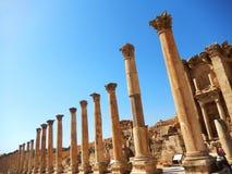 CARDO MAXIMUS, COLONNADED STREET IN ANCIENT CITY OF JERASH, JORDAN Royalty Free Stock Image