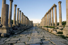 The Cardo Maximus  in Jerash. Jordan Stock Photo
