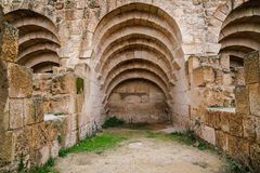 Cardo Maximus Oude Roman stad van Gerasa stock afbeeldingen