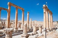 The Cardo Maximus . Roman ancient city of Geraza Royalty Free Stock Images