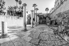Cardo Maximus Roman Pillars. Royalty Free Stock Photos