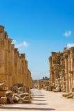 The Cardo Maximus street in Jerash ruins Jordan Stock Photo