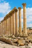 The Cardo Maximus street in Jerash ruins Jordan Stock Photos