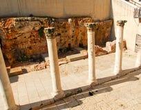 Cardo - Roman Street, Jeruzalem Stock Afbeelding