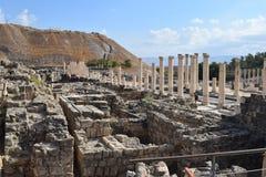 Cardo romano in Beit SheÂ'an fotografia stock libera da diritti