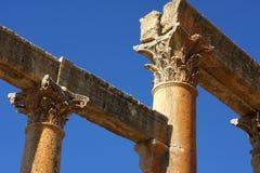 Cardo street in Jerash Royalty Free Stock Images