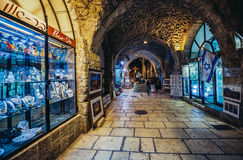 Cardo Street in Jerusalem Royalty Free Stock Image