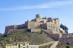 Cardona城堡是一座著名中世纪城堡在卡塔龙尼亚 库存照片