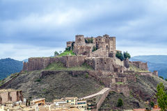 Cardona castle medieval castle in Catalonia. Royalty Free Stock Photo