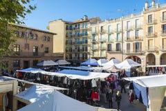 Flea market of Cardona in Catalonia, Spain Royalty Free Stock Image