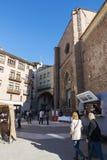 Flea market of Cardona in Catalonia, Spain Royalty Free Stock Photos