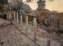 Cardostraat in Jeruzalem israël royalty-vrije stock afbeelding