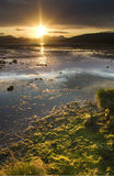 Cardross sunset. Sun setting over River Clyde at Cardross near Glasgow in Scotland Royalty Free Stock Image