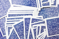 Cards. Abundance of cards on to the table Royalty Free Stock Photography