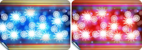 Cards. Abstract colored background with flower Stock Illustration