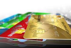 Cards. Idea, banking system concept Stock Photos