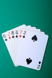 Cards. Classic playing cards close-up shot Stock Image