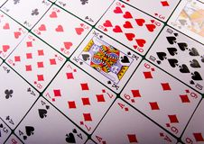 Cards. Casino - a place where you can win or lose money Stock Photography