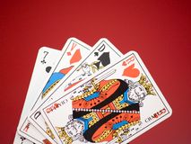 Cards [5]. Playing cards Royalty Free Stock Image