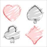 Cards. Spade heart diamond club cards Royalty Free Stock Image