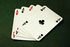 Cards. Four aces Royalty Free Stock Image