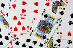 Cards. Background of playing cards. Bridge Stock Photos