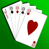 Cards. Internet gambling Stock Photography