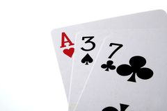 Cards. Ace, blackjack, cards, casino, clubs, four, gambling, game, games, heart Stock Photo