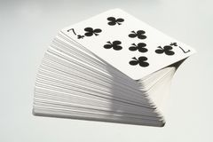 Cards. Ace, blackjack, cards, casino, clubs, four, gambling, game Royalty Free Stock Image