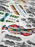 Cards. Hungarian cards royalty free stock photos