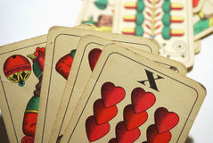 Cards. Picture of a playing cards Royalty Free Stock Photo