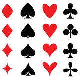 Cards. Colours for playing cards poker Stock Photography
