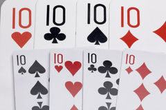 Cards. Accessories for the game Royalty Free Stock Photography