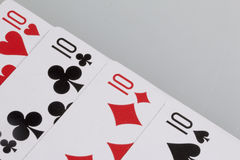 Cards. Accessories for the game Stock Photos