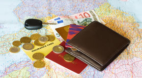 Cards&money Fotografia Stock
