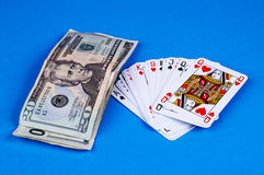 Cards&money Foto de Stock Royalty Free