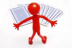 cards att leka för begrepp Royaltyfria Foton