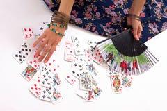 cards att leka för spådom royaltyfria foton