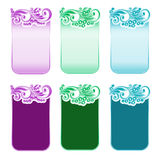 Cards and banners with decorative floral elements. Vector. Cards and banners with decorative floral elements in folk style Stock Image