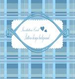 Cards blue plaid Stock Images