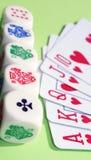 Cards and bones Stock Photos