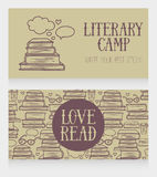 Cards with books Royalty Free Stock Photo
